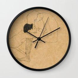 Egon Schiele Lovers Wall Clock