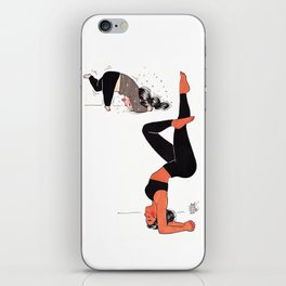 Yogi girl funny headstand - yoga teacher - yoga fun - expectation vs reality iPhone Skin