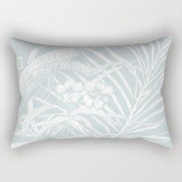 TROPIC ORCHID Bleu Rectangular Pillow