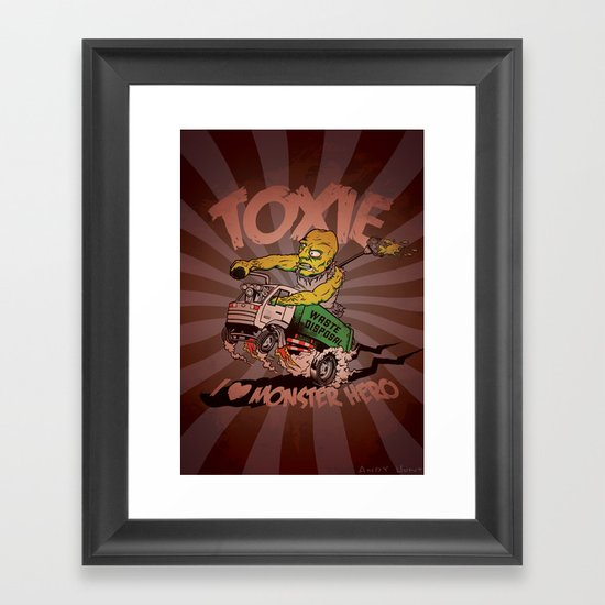 I (HEART) MONSTER HERO Framed Art Print