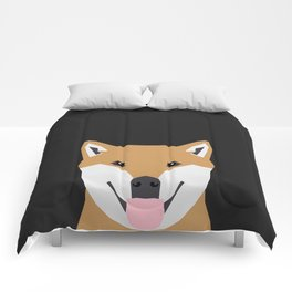 Indiana - Shiba Inu gift design for dog lovers and dog people Comforters