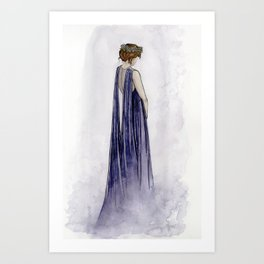 Violet Ghost Art Print