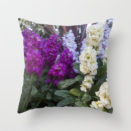 Spring Stock Flowers Throw Pillow