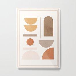 Minimal Geometric 131 Metal Print
