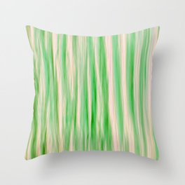 MINTY LINES Throw Pillow