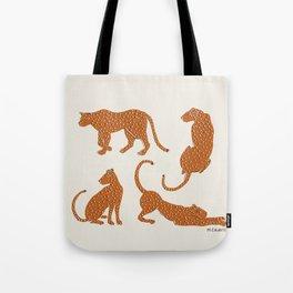 Leopard Block Party Tote Bag