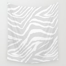 ZEBRA GRAY AND WHITE ANIMAL PRINT Wall Tapestry