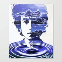 dylan Canvas Prints featuring Dylan by Alex Carlson