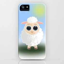 White Sheep iPhone Case