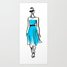 fashion sketch 1 Art Print