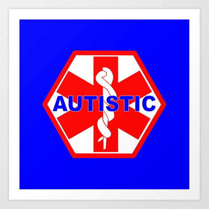 Autism Medical Alert Identification Tag Art Print By Sofiayoushi