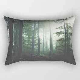 Dreary Black Rectangular Pillow