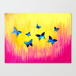 Butterflies and Vivid Sundrenched Colors Canvas Print