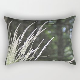 Ornamental Grasses & Blue Sky Orbs Rectangular Pillow