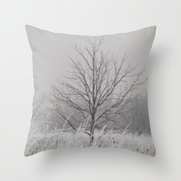 Wintered Throw Pillow