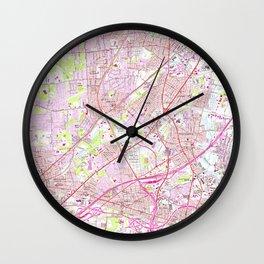 Old Perth Amboy, Rahway & Metuchen NJ Map (1956) Wall Clock