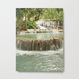 Zen Waterfalls Harmony Metal Print
