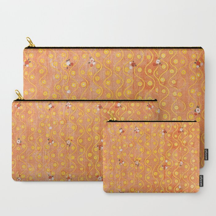 Beethoven_Frieze_by_Gustav_Klimt_CarryAll_Pouch_by_wild_strawberries__Set_of_3