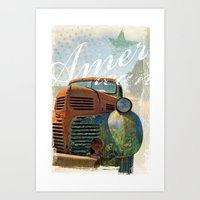 american Art Prints featuring American by m1 design group