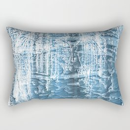 Steel blue nebulous wash drawing paper Rectangular Pillow