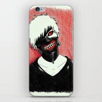 tokyo ghoul iPhone & iPod Skins featuring Kaneki - Tokyo Ghoul by Kelly Katastrophe