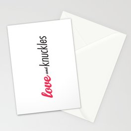 Love and Knuckles (Logo Graphic) Stationery Cards