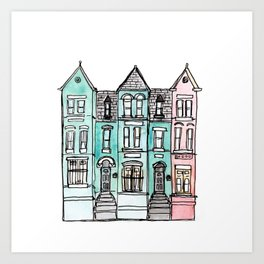 DC Row House No. 2 II U Street Art Print