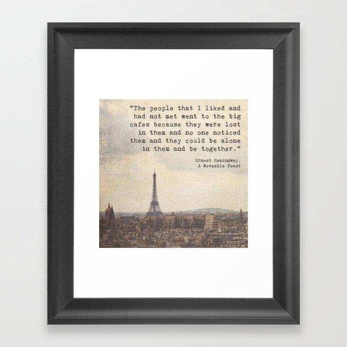 Hemingway in Paris Gerahmter Kunstdruck