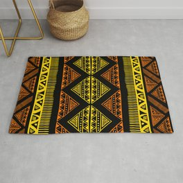 Yellow and brown African Tribal batik design for home ornaments. Rug