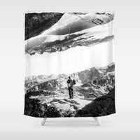 return Shower Curtains featuring Return to isolation planet by Stoian Hitrov - Sto