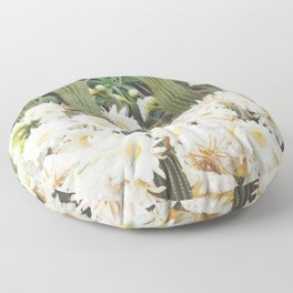 Cactus and Flowers Floor Pillow