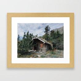Abandoned Cabin, Kluane Lake, Yukon Territory, Canada Framed Art Print
