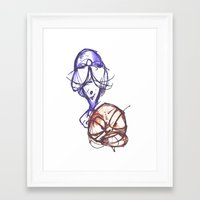 ying yang Framed Art Prints featuring Ying & Yang by Nerve