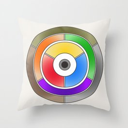The theory of colouring - Diagram of colour by J. Bacon, 1866, Remake (no text) Throw Pillow