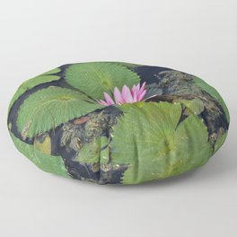 Water Lily, I Floor Pillow