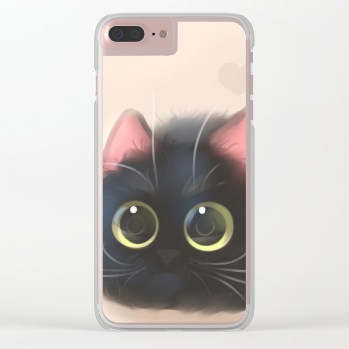 Fluffy Sushi Clear iPhone Case