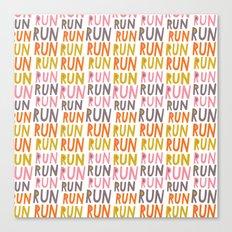 Pattern Project #19 / Run Run Run Canvas Print