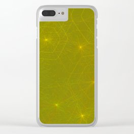 Fireflies and Filaments Clear iPhone Case