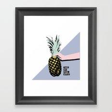 Take my pineapple! Framed Art Print
