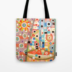 Girl with the flower in hair Tote Bag