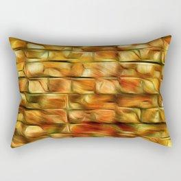 Autumn Leaves On My Patio Rectangular Pillow