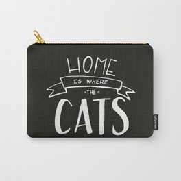 home is where the cats are - black and white Carry-All Pouch