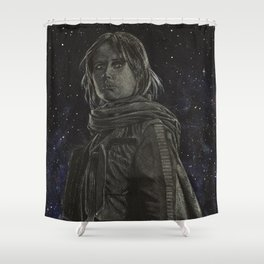 Jyn Erso Shower Curtain