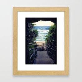 Oholei beach Framed Art Print