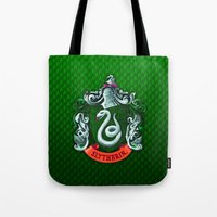 slytherin Tote Bags featuring SLYTHERIN  by Smart Friend