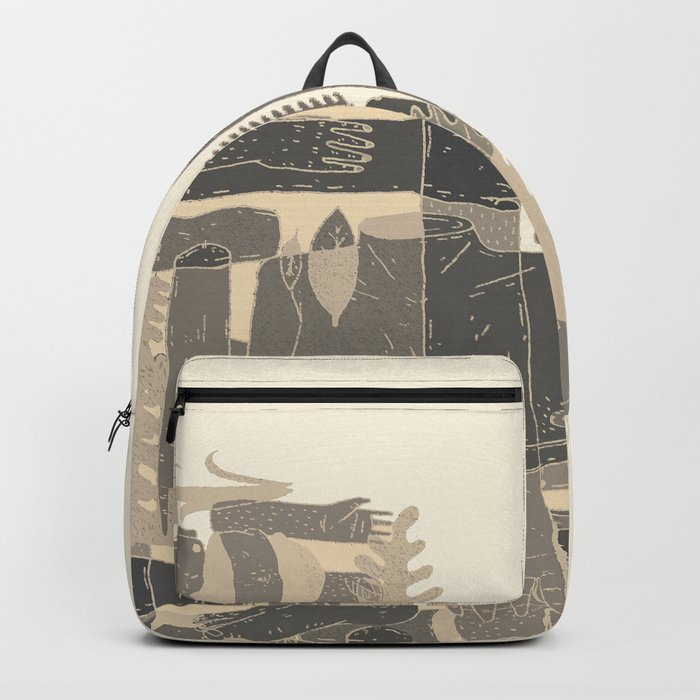 two blue bodys Backpack