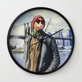 Keep it poppin' Wall Clock