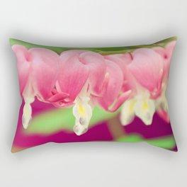 Bleeding heart flowers Rectangular Pillow