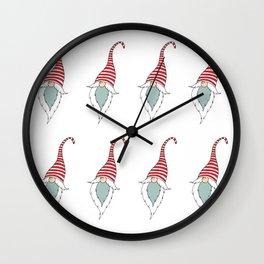 Christmas Scandinavian Gnome Wall Clock