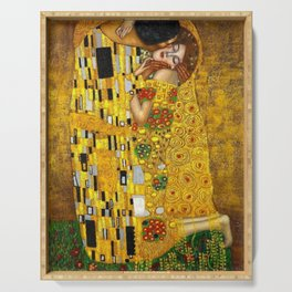 The Kiss Painting Gustav Klimt Serving Tray